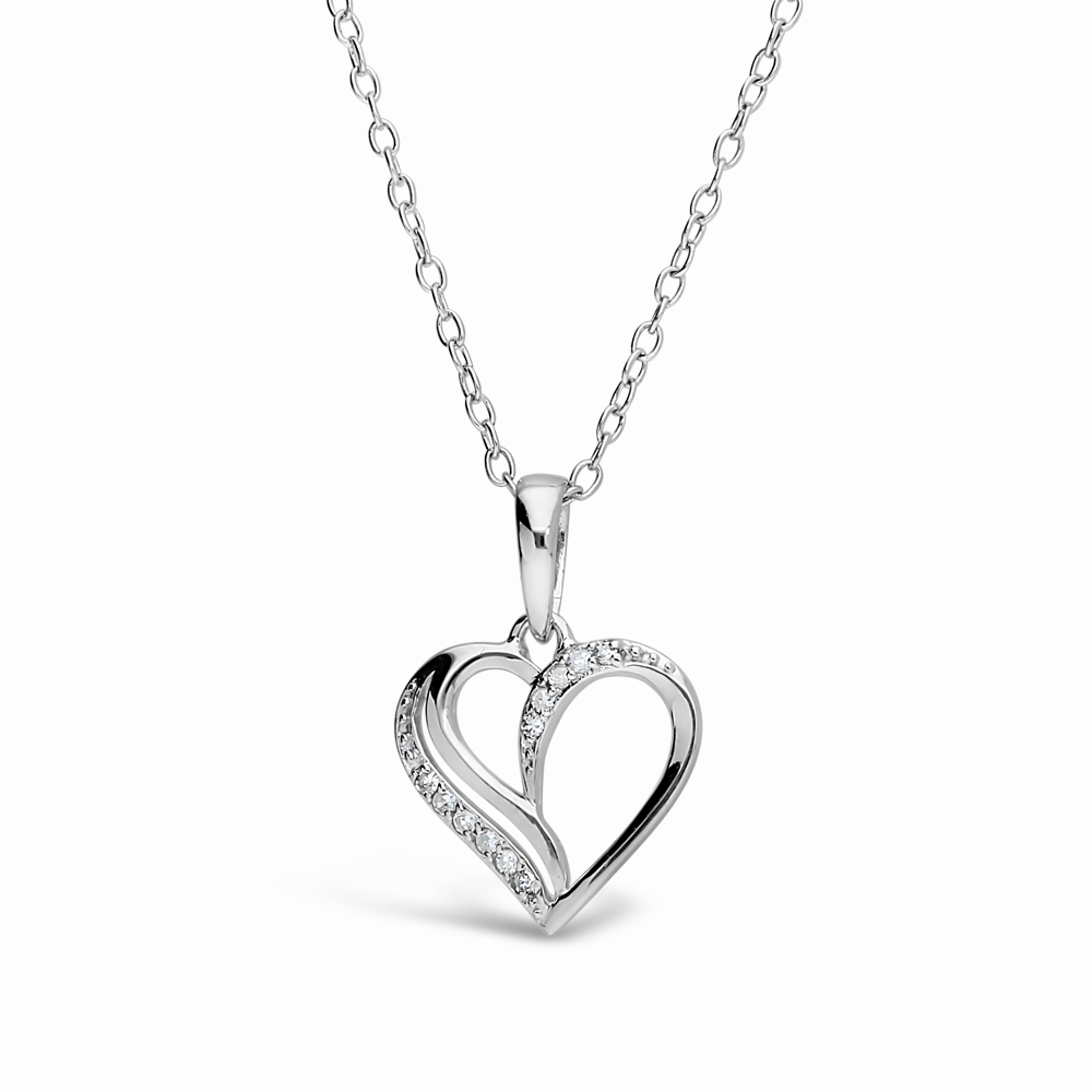 0.05CT DIAMOND LADIES HEART PENDANT